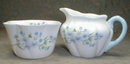 SHELLEY Dainty BLUE ROCK Creamer & Sugar Bowl