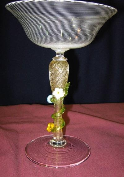 Venetian Flowered Stem Compote