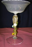Venetian Flowered Stem Compote