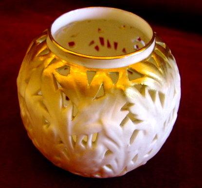 ROYAL WORCESTER Reticulated Vase - ANTIQUE -
