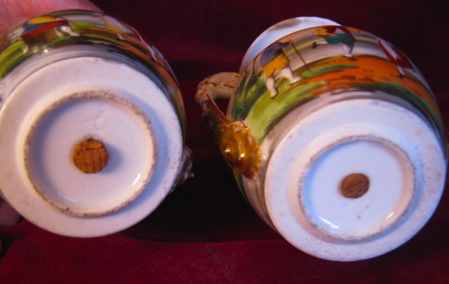 OLD PARIS Hand Painted Vases -PAIR- Antique