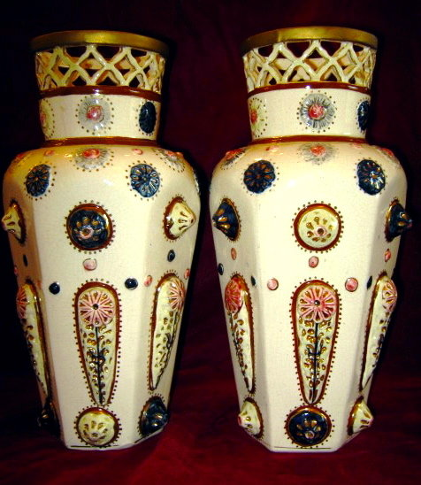 Amphora Art Pottery Vases - PAIR -