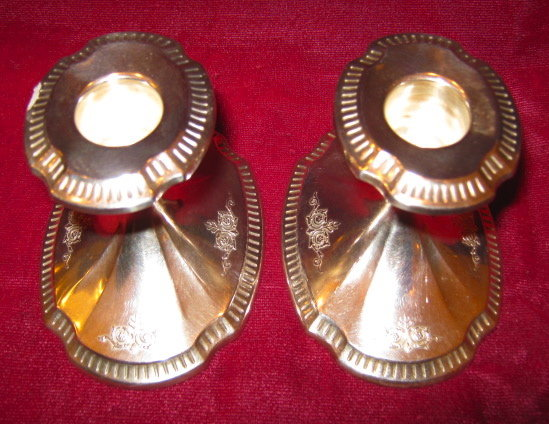 Community GROSVENOR Silver Plate Candle Holders - PAIR -