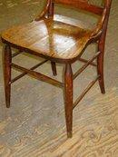 Antique Solid Oak Chair