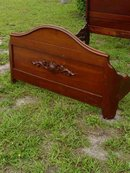 Antique Victorian Solid American Black Walnut Full Size Bed