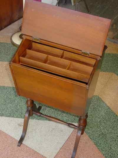 Solid American Black Walnut Sewing Box