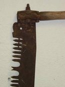 Antique Wooden Double Handle Crosscut Iron Saw