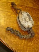 Antique Iron & Wood Pulley
