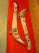 Pair of Antique Wood & Iron Yokes