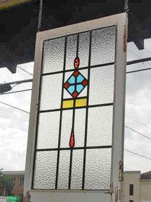 Multicolor Triangular Pendant Antique Stained Glass