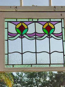 Victorian Floral Duet Antique Stained Glass