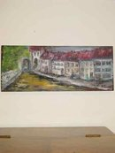 The Red Roofs Original Signed H. Page Oil