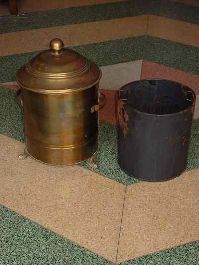 Antique English Solid Brass Coal Scuttle