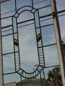 Reeded Elliptical Antique Stained Glass