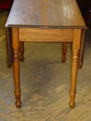 Antique Solid Ash Drop Leaf Table