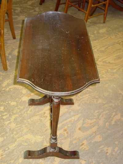 Antique Solid Mahogany Occasional Table