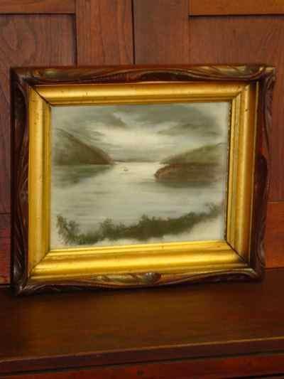 The Coming Storm Antique Original Pastel on Paper