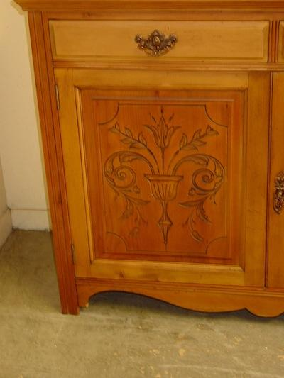 English Antique Solid Pine Cabinet