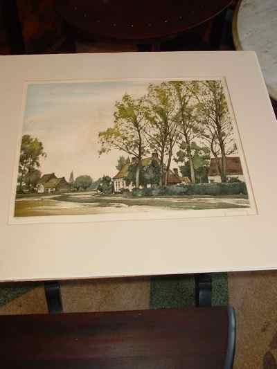 Au Bout Du Villa Signed & Numbered Roger Hebbelinck Etching