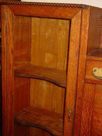 Antique Solid 1/4 Sawn Tiger Oak Combination Bookcase Desk