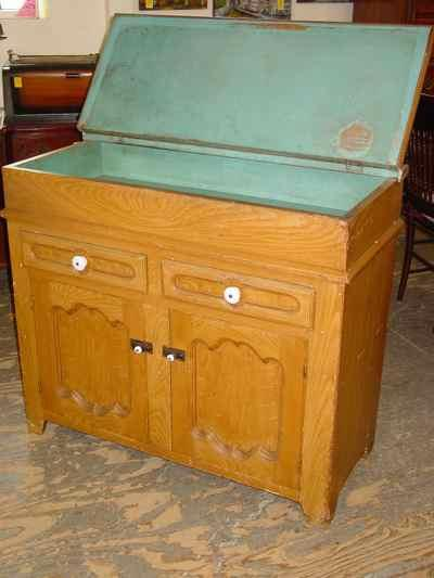 German Antique Solid Pine Dry Sink