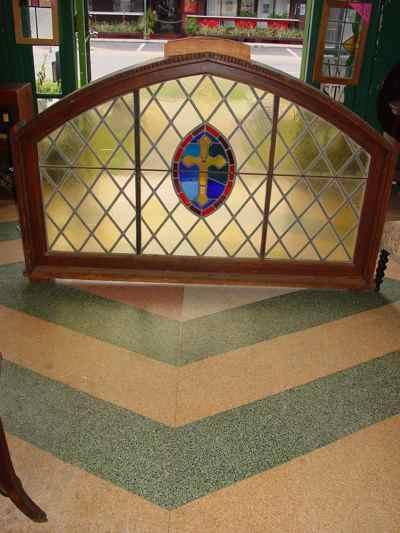 American Antique Leaded & Stained Glass Church Window
