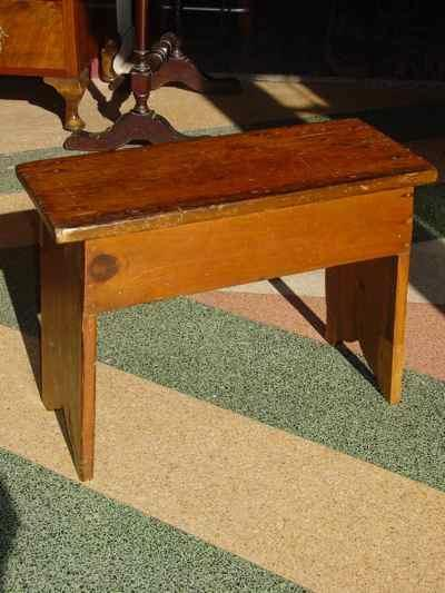 Antique Solid Pine Milking Stool
