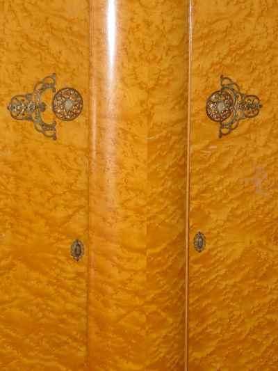 Majority Furniture English Birdseye Maple Large Fitted Wardrobe