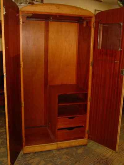 Majority Furniture English Birdseye Maple Small Fitted Wardrobe