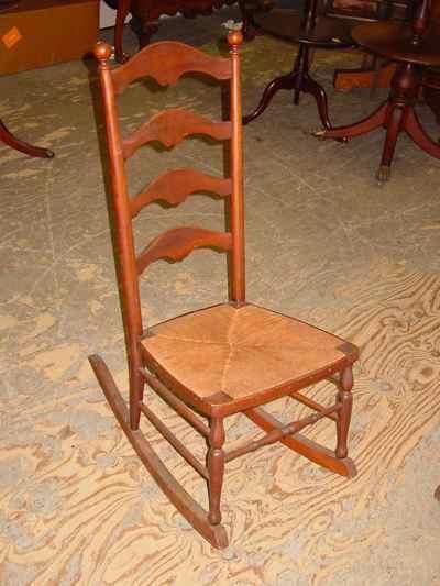 Antique Solid Cherry Ladder Back Rocker