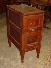 Antique Solid Mahogany File Cabinet