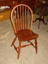 Vintage Windsor Style Solid Cherry Chair