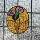 Duo Purple Rose Antique Stained Glass
