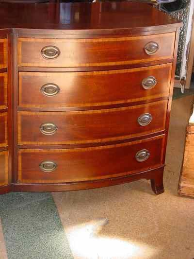 Johnson Furniture Company Federal Style Mahogany Double Dresser
