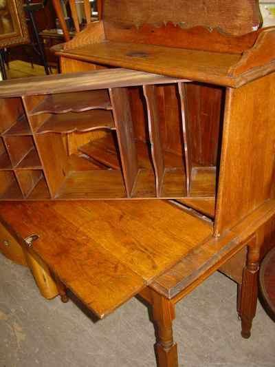 Antique Solid Oak Plantation Desk