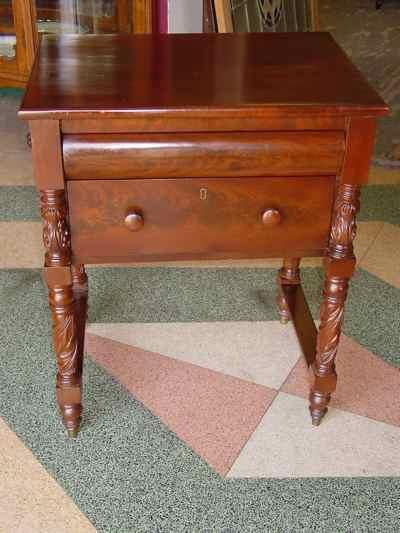 Antique Victorian Empire Mahogany Side Table