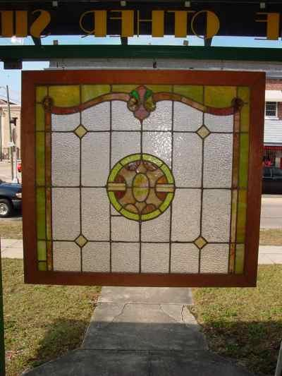 Multicolor Victorian Antique Stained Glass