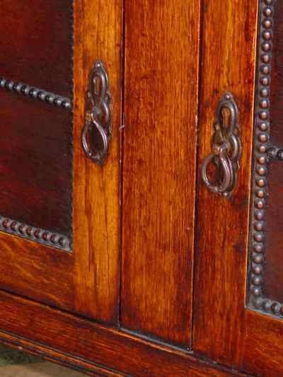 English Barley Twist 1/4 Sawn Tiger Oak Welsh Dresser