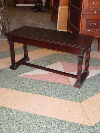 Antique Solid Mahogany Piano Bench