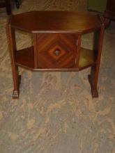 Art Deco Walnut Humidor Smoking Stand