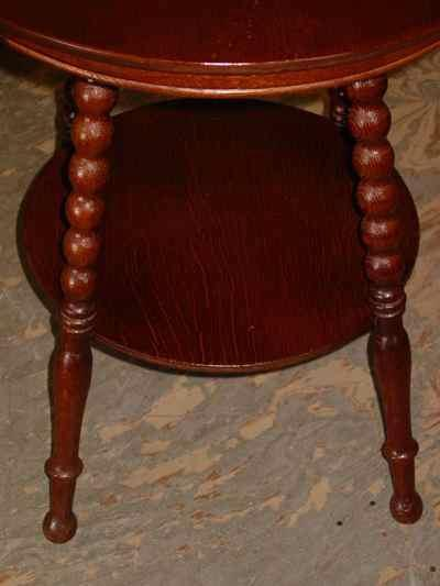 Antique Solid Oak 1/4 Sawn Tiger Oak Parlor Table