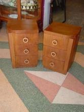 Pair of Mid-Century Modern Walnut Side Tables