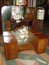 Mid-Century Modern Walnut Vanity
