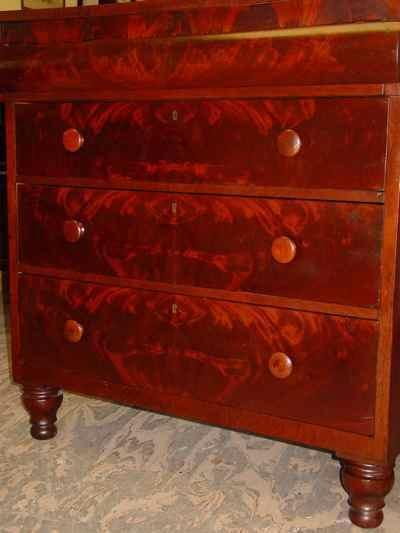 Antique Empire Mahogany Chest