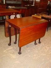 Vintage Mahogany Ball & Claw Foot Drop Leaf Gate Leg Table