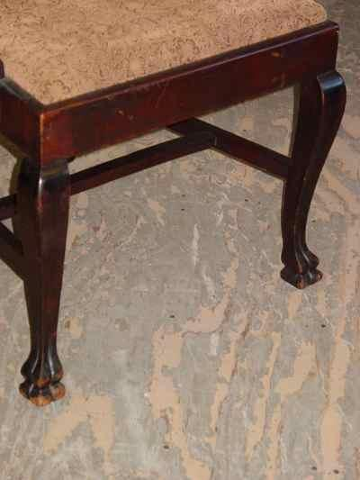 Set of 6 Chippendale Style Solid Mahogany Chairs