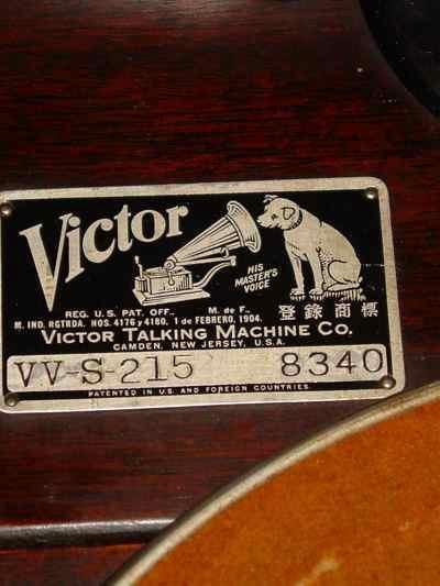 Victor Victrola Model VV-S-215 in Mahogany Cabinet