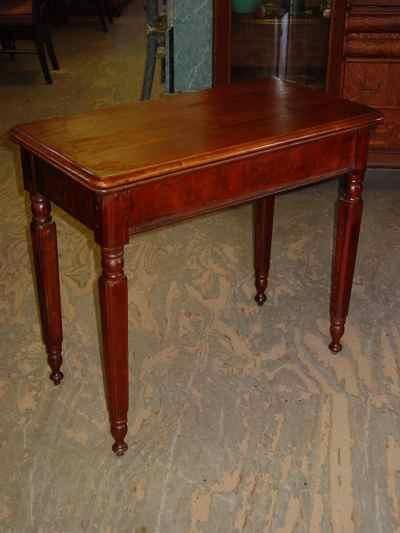 Antique Solid American Black Walnut Game Table