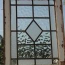 Diamond Centered Clear Antique Leaded Glass