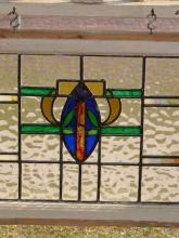 Multicolored Amulet Antique Stained Glass